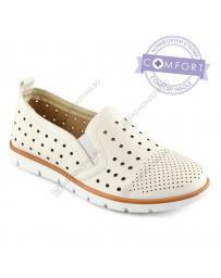 Бели дамски ежедневни обувки Zavier