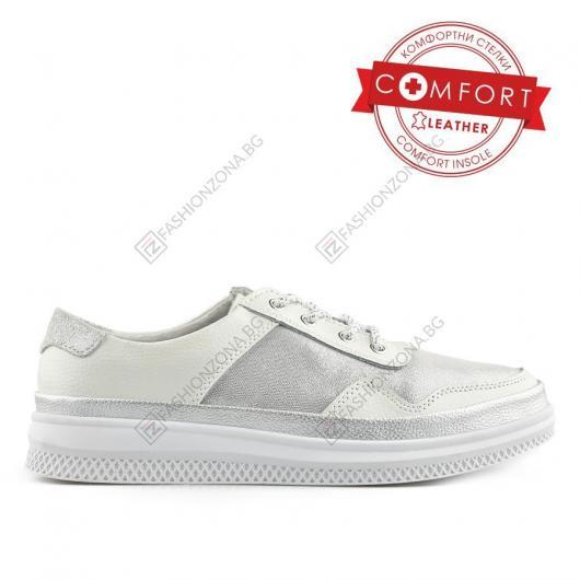 Бели дамски ежедневни обувки Melesio