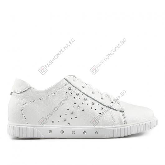 Бели дамски ежедневни обувки Victorio
