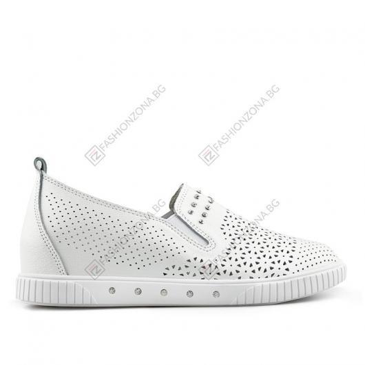 Бели дамски ежедневни обувки Joseito