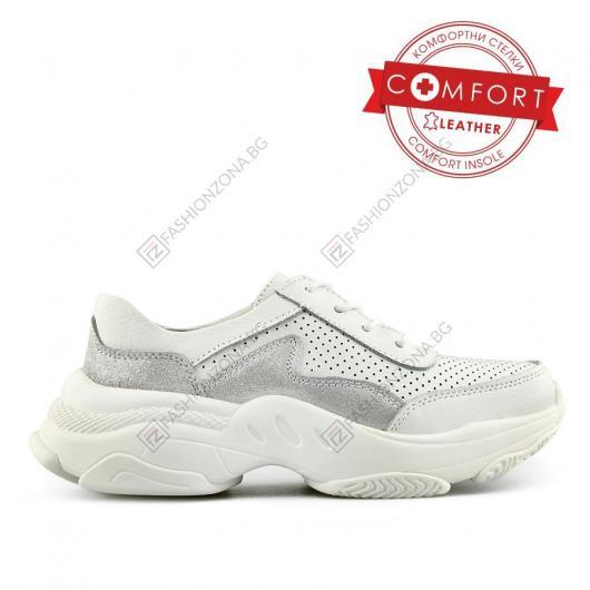 Бели дамски ежедневни обувки Lisandro