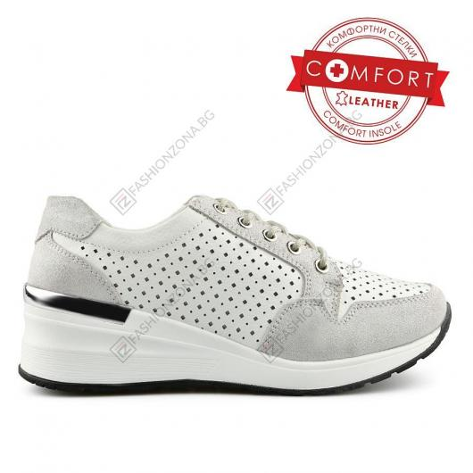 Бели дамски ежедневни обувки Belisarios