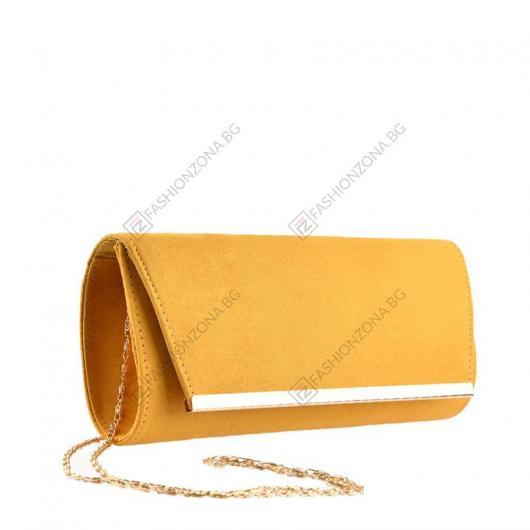 Жълта дамска елегантна чанта Tiburon