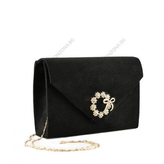 Черна дамска елегантна чанта Juanluis