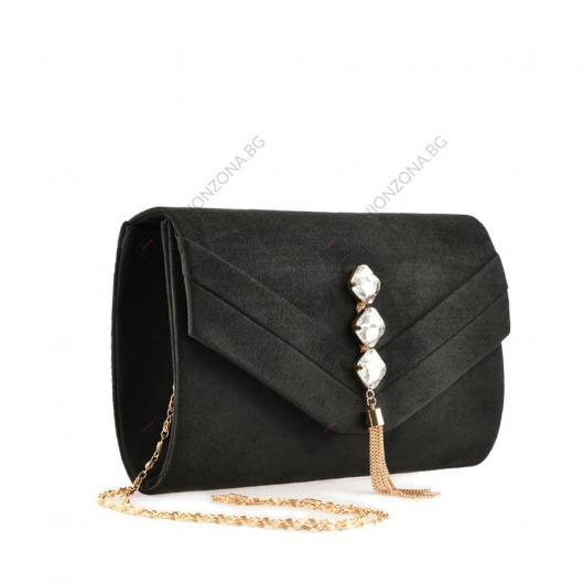 Черна дамска елегантна чанта Generosb