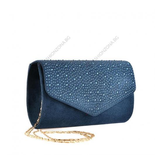 Синя дамска елегантна чанта Teeno