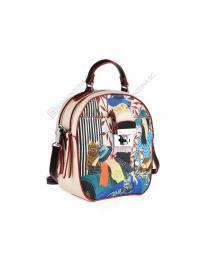 Бежова дамска ежедневна чанта Eviana