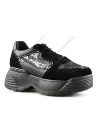 Черни дамски ежедневни обувки Leyre