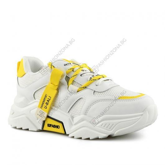 Бели дамски ежедневни обувки Isa
