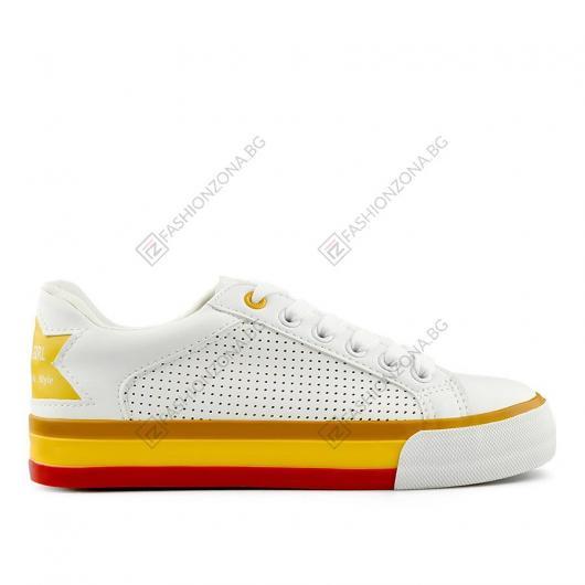 Бели дамски ежедневни обувки Martia