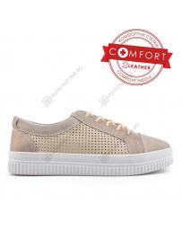 Бежови дамски ежедневни обувки Ona