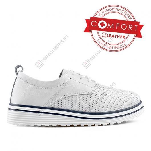 Бели дамски ежедневни обувки Nina