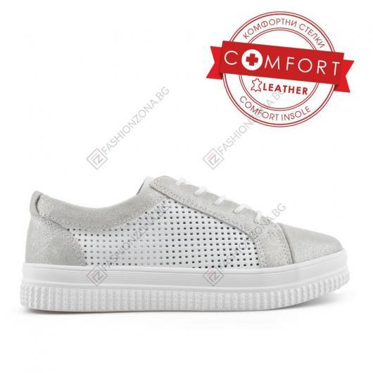 Бели дамски ежедневни обувки Emma