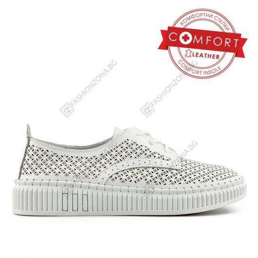 Бели дамски ежедневни обувки Aina