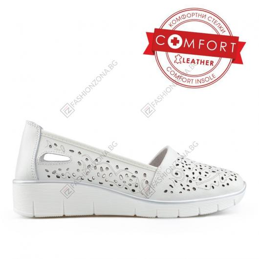 Бели дамски ежедневни обувки Evia