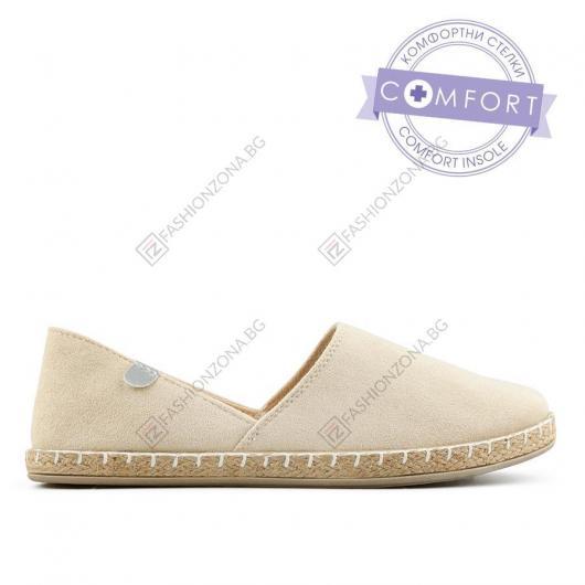 Бежови дамски ежедневни обувки Abad