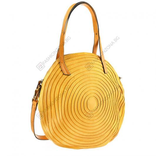 Жълта дамска ежедневна чанта Quintana