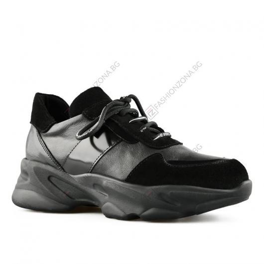 Черни дамски ежедневни обувки Bertunga