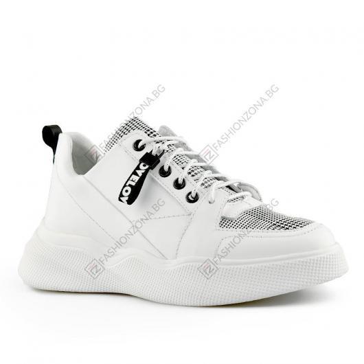 Бели дамски ежедневни обувки Sylvia