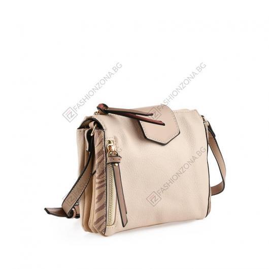 Бежова дамска ежедневна чанта Olalla