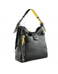 Черна дамска ежедневна чанта Monica