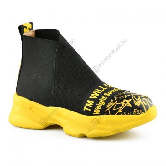 Черни дамски ежедневни обувки Rosina
