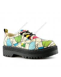 Бежови дамски ежедневни обувки Pascua