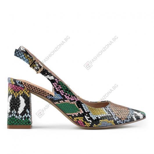 Цветни дамски елегантни сандали Navidad