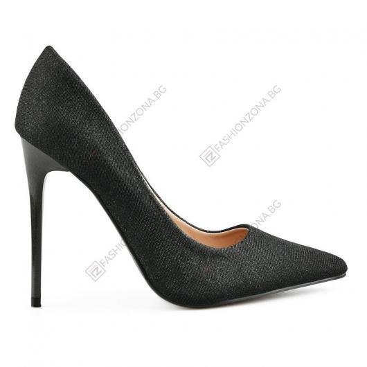 Черни дамски елегантни обувки Morena