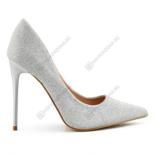Сребристи дамски елегантни обувки Chiara