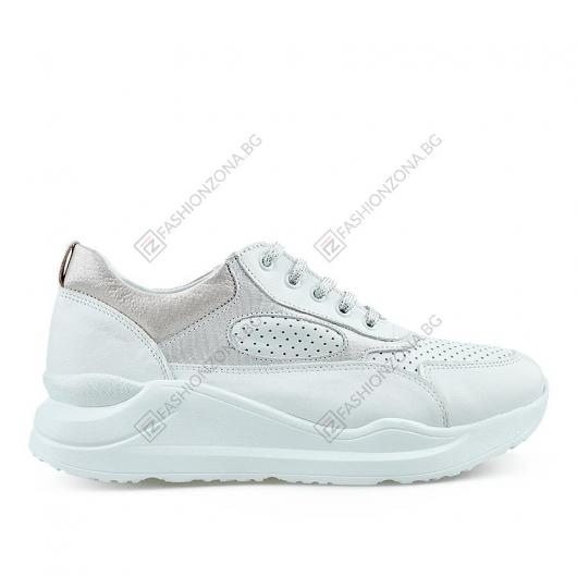 Бели дамски ежедневни обувки Rosemunda