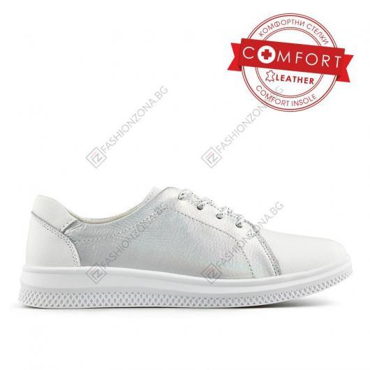 Сребристи дамски ежедневни обувки Constança