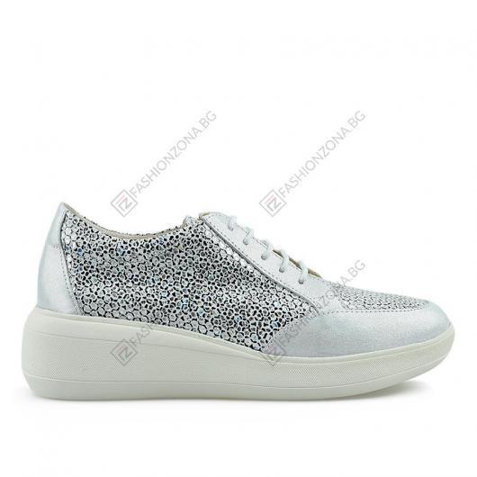 Сребристи дамски ежедневни обувки Rosalia