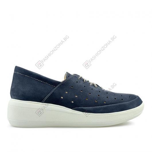 Сини дамски ежедневни обувки Lucilla