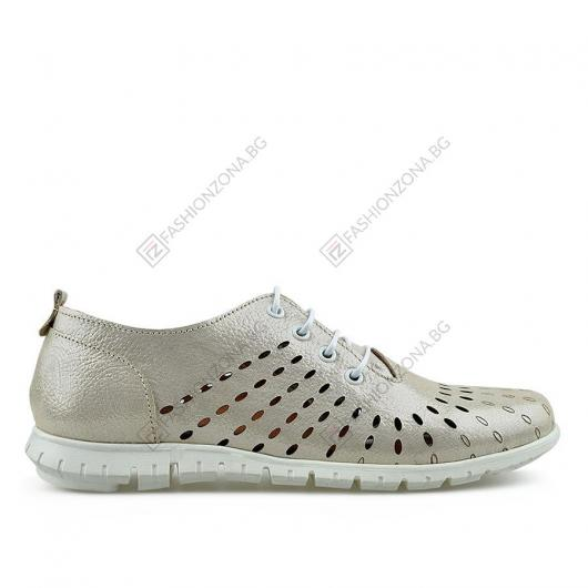 Бежови дамски ежедневни обувки Valeriana