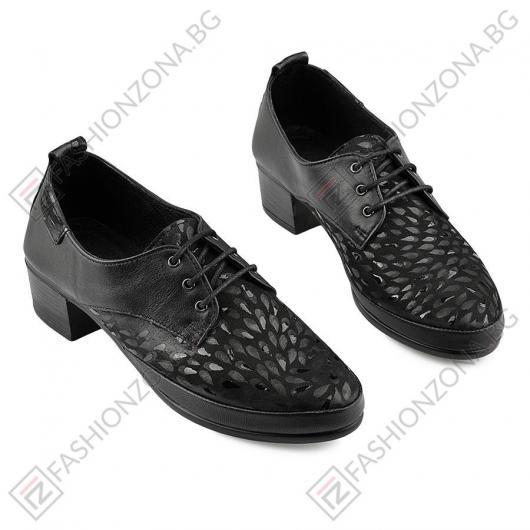 Черни дамски ежедневни обувки Nadia