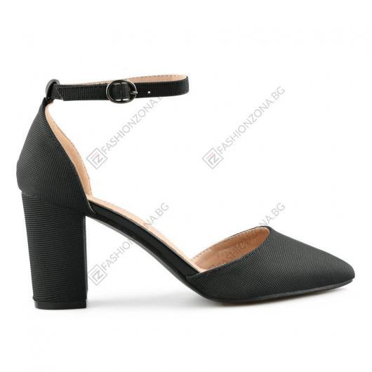 Черни дамски елегантни сандали Rosalia