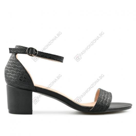 Черни дамски елегантни сандали Allegra