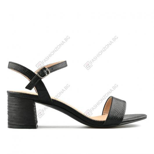 Черни дамски елегантни сандали Jolan