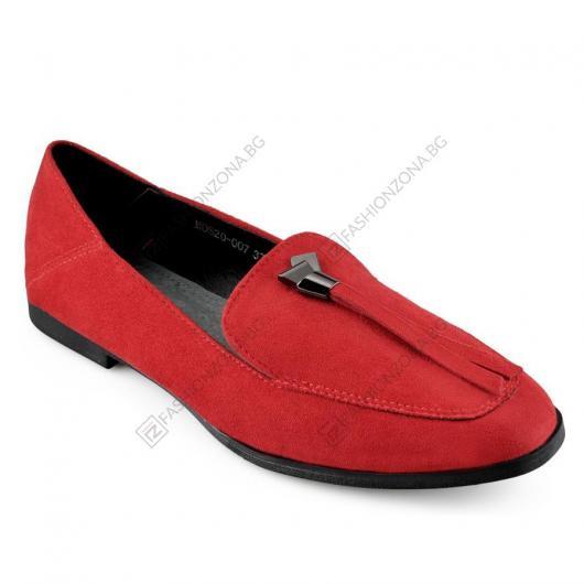 Червени дамски ежедневни обувки Aniceta