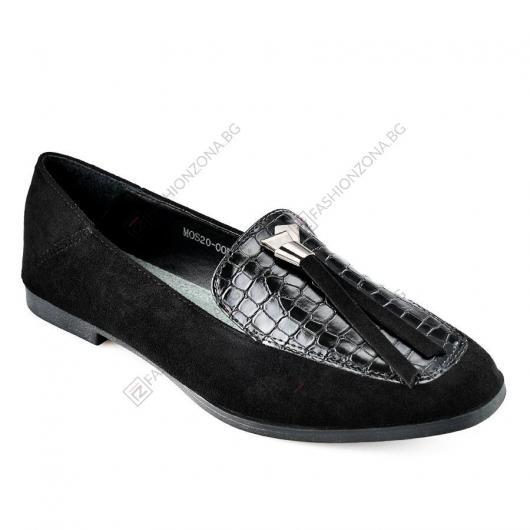 Черни дамски ежедневни обувки Natalia