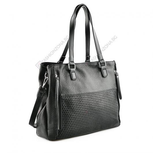 Черна дамска ежедневна чанта Nazaret