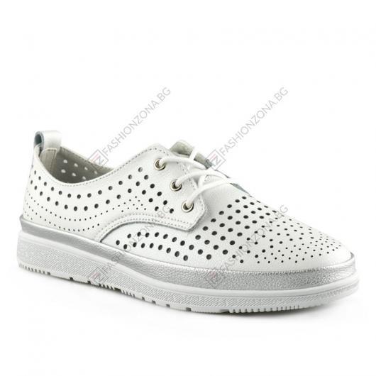 Бели дамски ежедневни обувки Stella