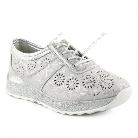 Сребристи дамски ежедневни обувки Palacida