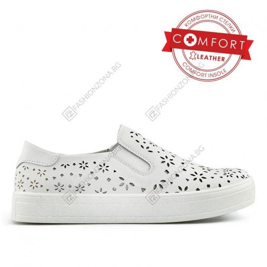 Бели дамски ежедневни обувки Judina
