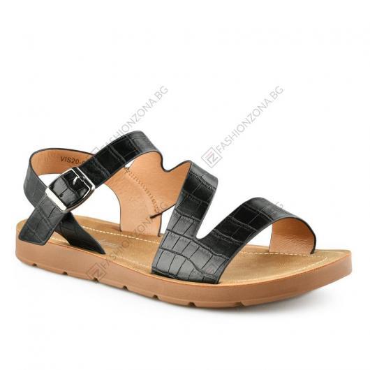Черни дамски ежедневни сандали Ninah