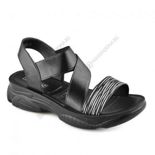 Черни дамски ежедневни сандали Alhambra
