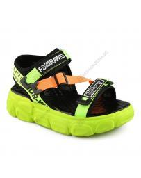 Зелени дамски ежедневни сандали Carolina