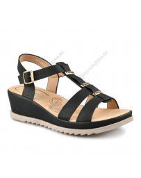 Черни дамски ежедневни сандали Yoli