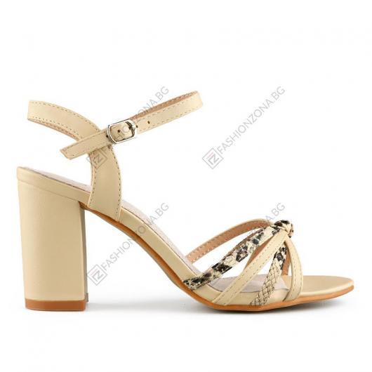 Бежови дамски елегантни сандали Felice